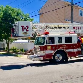 Woodland Park (West Paterson) NJ Fire Department Truck 2 and Engine 1 Responding on Mt Pleasant Ave