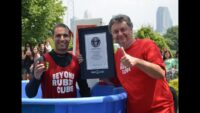 Raw video – 3:03 – Anthony Brooks breaks Guinness World Record at Liberty Science Center