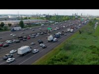 New Jersey Turnpike rush hour traffic stopped by a group calling for undocumented immigrant funding