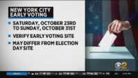 Early Voting In New York City, New Jersey Starts Saturday